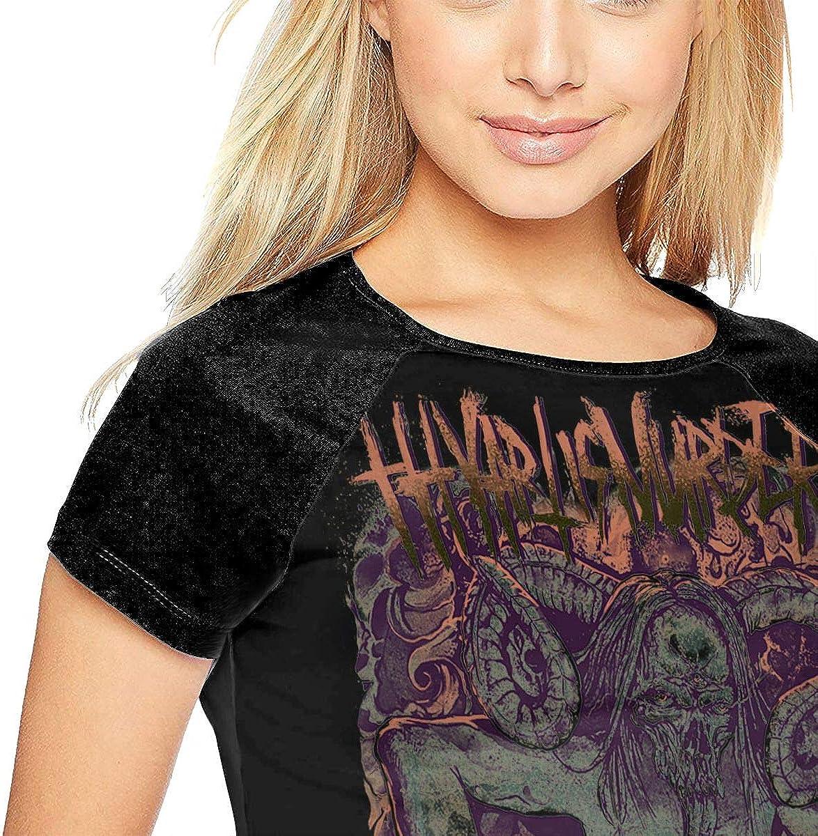 Thy Art is Murder Womans Baseball Shirt Short Sleeve Round Neck Raglan T-Shirt
