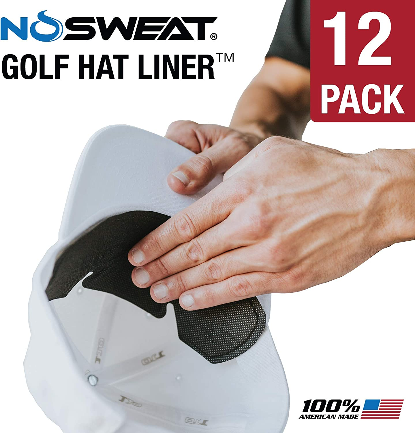 Golf Hat Sweat Liner & Cap Protection – Moisture Wicking Prevents Stains (12) : Clothing