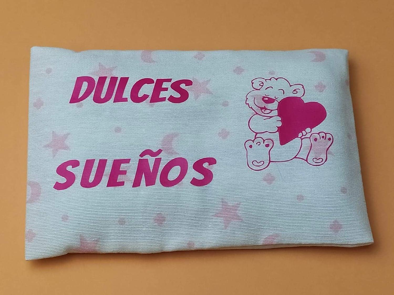 Saco térmico anticólicos para bebé (15x10 cm). Cojín de semillas y ...