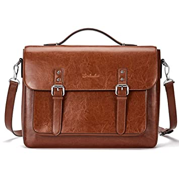 fa21328d0522 BOSTANTEN Leather Briefcase 14