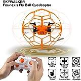 2.4GHZ Sky Walker 1340 6 assi Mini RC Quadcopter 360 fogli mobili, Modalit¨¤ Automatica volante in Circles rtf 4CH(Arancione / verde a caso)