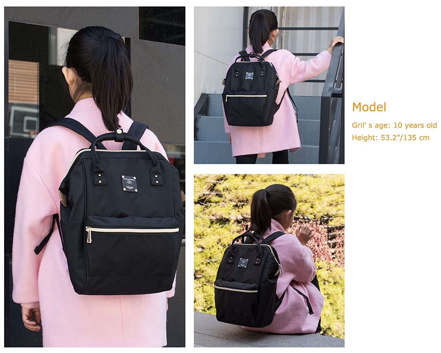 ebf9cb39dc9 Bebamour Casual College Backpack Lightweight Travel Wide Open Backpack for  Women Men