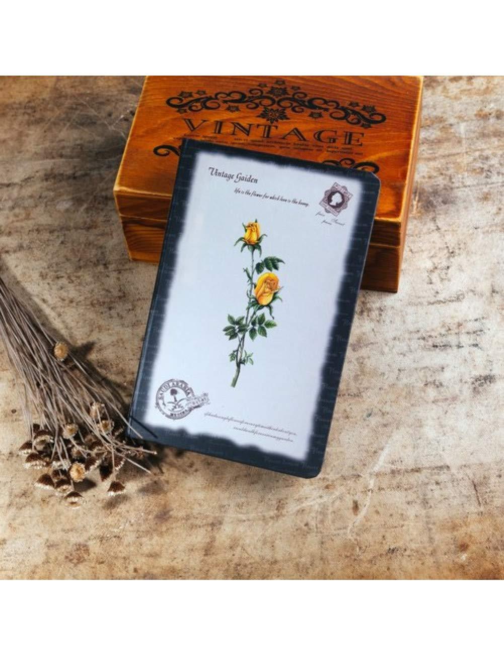 ZXSH Cuaderno Vintage Muy Gruesa A5 Agenda Cuaderno Flor ...