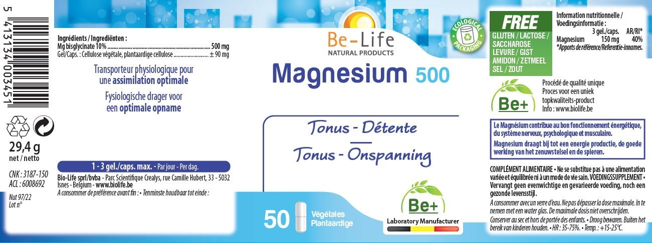 Be-Life Magnesium 500: Amazon.de: Drogerie & Körperpflege