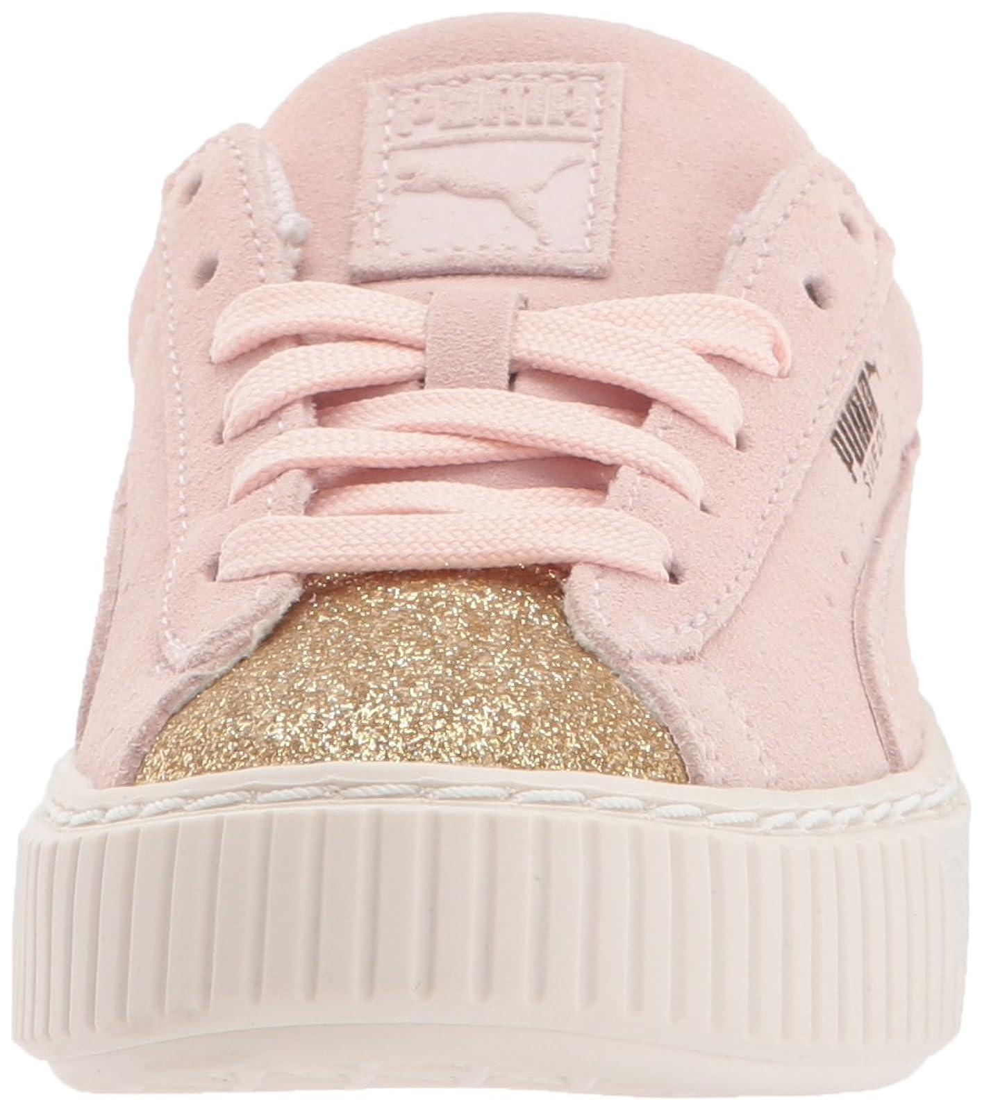 PUMA Kids' Suede Platform Glam Sneaker Pink 36492207 - 4