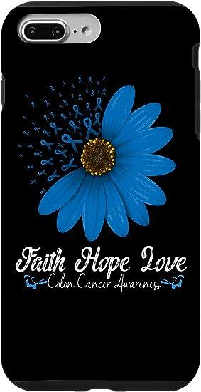 Amazon Com Iphone 7 Plus 8 Plus Colon Cancer Phone Case Hope Love Support Gift Blue Ribbon Case