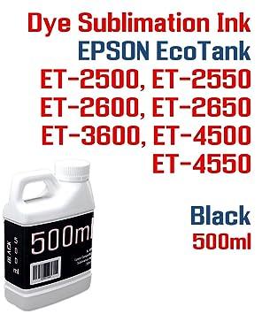 Sublimación de Tinta Negro 500 ml Botella EcoTank ET-2500, ET-2550 ...