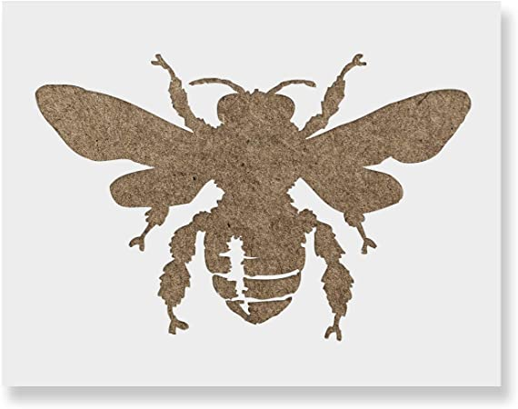Farmhouse stencil. Honey Bee stencil Bug stencil Reusable craft stencil Insect stencil Bee Stencil bumble bee stencil wasp stencil