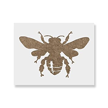 bee stencil template reusable stencil with multiple sizes