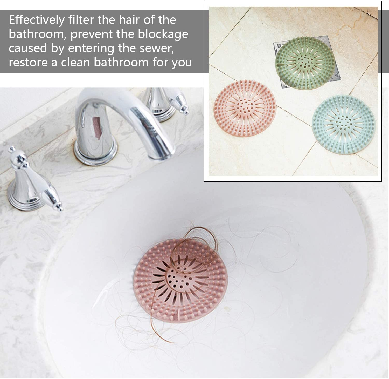 Drain Hair Catcher Silicone Shower Drain Covers Universal Sink Drain Strainer Basin Strainer Filter for Bathtub Kitchen Bathroom