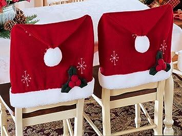Santa Hat Christmas Chair Covers