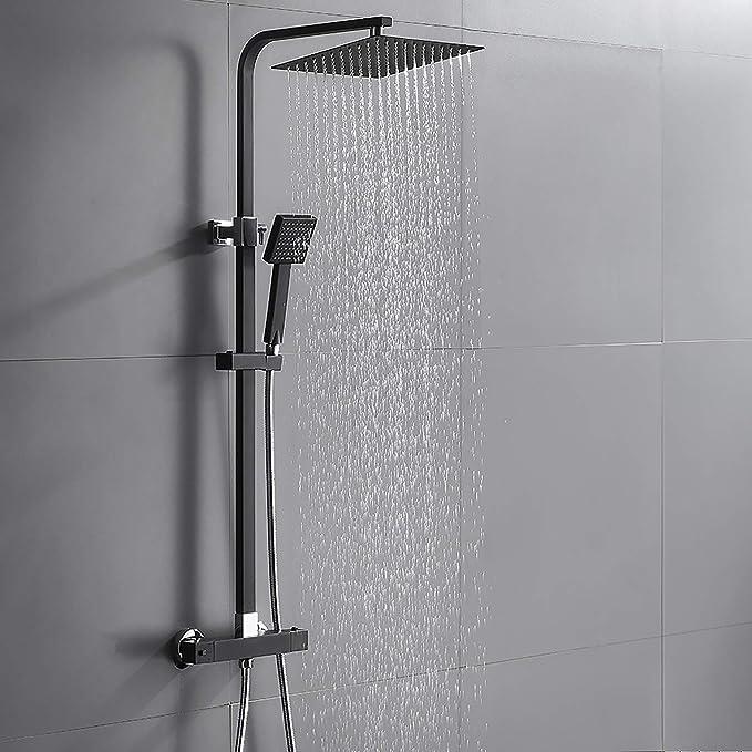 Auralum Duschset Duschsystem Regenduschset 2 Funktion Regendusche Duscharmatur Set Brauseset