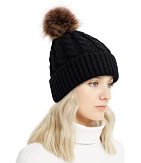 72168dc2ec5 Lullaby Winter Rib-Knit Beanie Chunky Baggy Hat for Women Snow Cable Knit  Skull Ski
