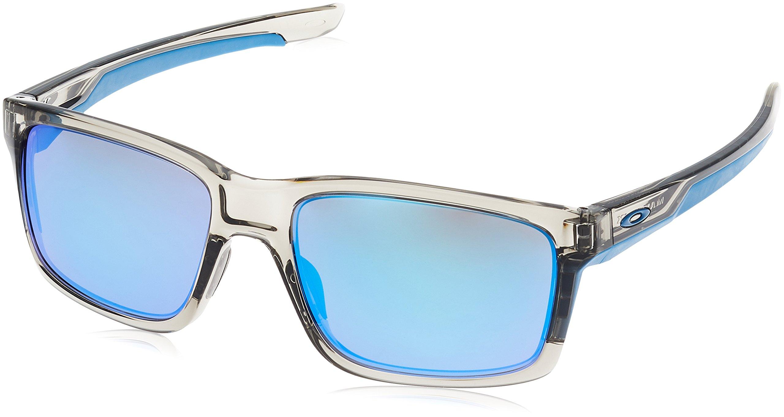 Oakley Men's Mainlink Rectangular Sunglasses, Grey Ink, 57.1 mm