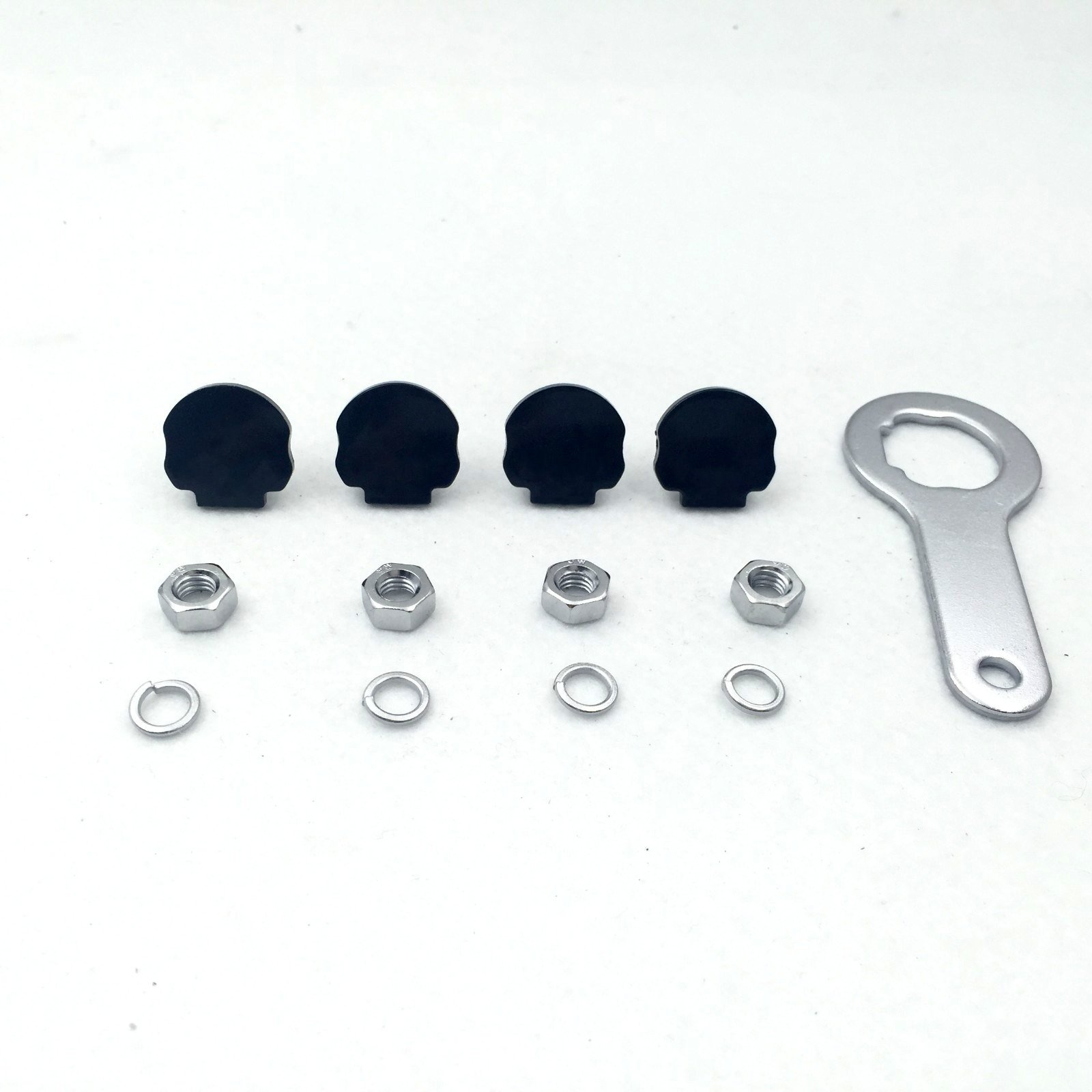 Motorcycle Black Skull Zombie License Plate Mounting Hardware(Wrench Lockwasher Nut and 1/4 inch Screw) For Harley Davidson Touring Road King Street Glide Road Glide Fat Boy Softail
