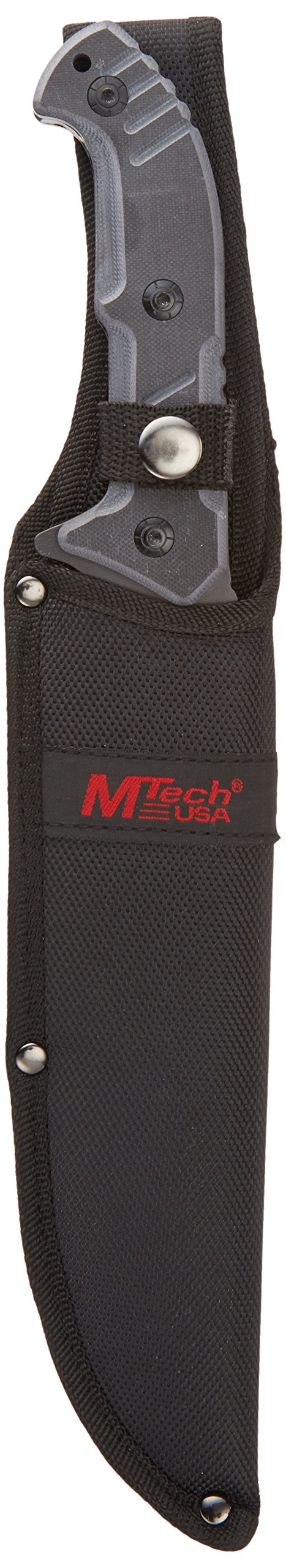 MTECH USA MT-20-39 Fixed Blade Knife, Black Clip Point Blade, Black G10 Handle, 14-Inch Overall