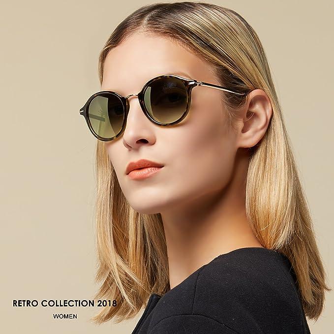 Elegear Gafas de Sol Mujer Retro Gafas vintage Redondas 100% Protección  UV400 UVA Gafas Verano 2018 Ultraligero Cómodo-Gafas Leopardo 03  Amazon.es   Ropa y ... c36d1935de9d