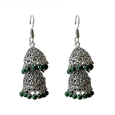 Jyesh Jewel - Pendientes de plata alemana para mujer, estilo ...