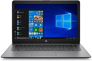 "2020 HP Stream 14"" HD Thin and Light Laptop PC, Intel Celeron N4000 Dual-Core Processor, 4 GB RAM, 64 GB eMMC, HDMI, Webcam, WiFi, 1 Year Office 365 Personal, Windows 10 S, Brilliant Black"