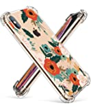 GVIEWIN Compatible for iPhone Xs/X Case, Clear Flower Pattern Design Soft & Flexible TPU Ultra-Thin Shockproof Transparent Floral Cover, Cases iPhone X/iPhone 10 (Flowering/Reseda Green)