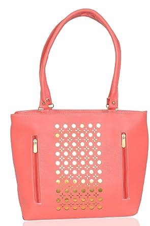 Lorna Premium Pu Leather Girl S Women S Hand Bag Pink Colour Amazon