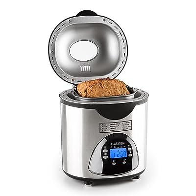 Klarstein City Life • Machine à pain • 580 Watts • Degré de brunissement réglable • Fonction Timer • 12 programmes de cuisson • Programmes spéciaux pour confiture et Y