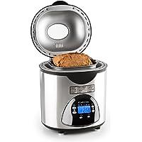Klarstein City Life • Machine à pain • 580 Watts • Degré de brunissement réglable • Fonction Timer • 12 programmes de cuisson • Programmes spéciaux pour confiture et Yaourt • Antiadhésif • Argent