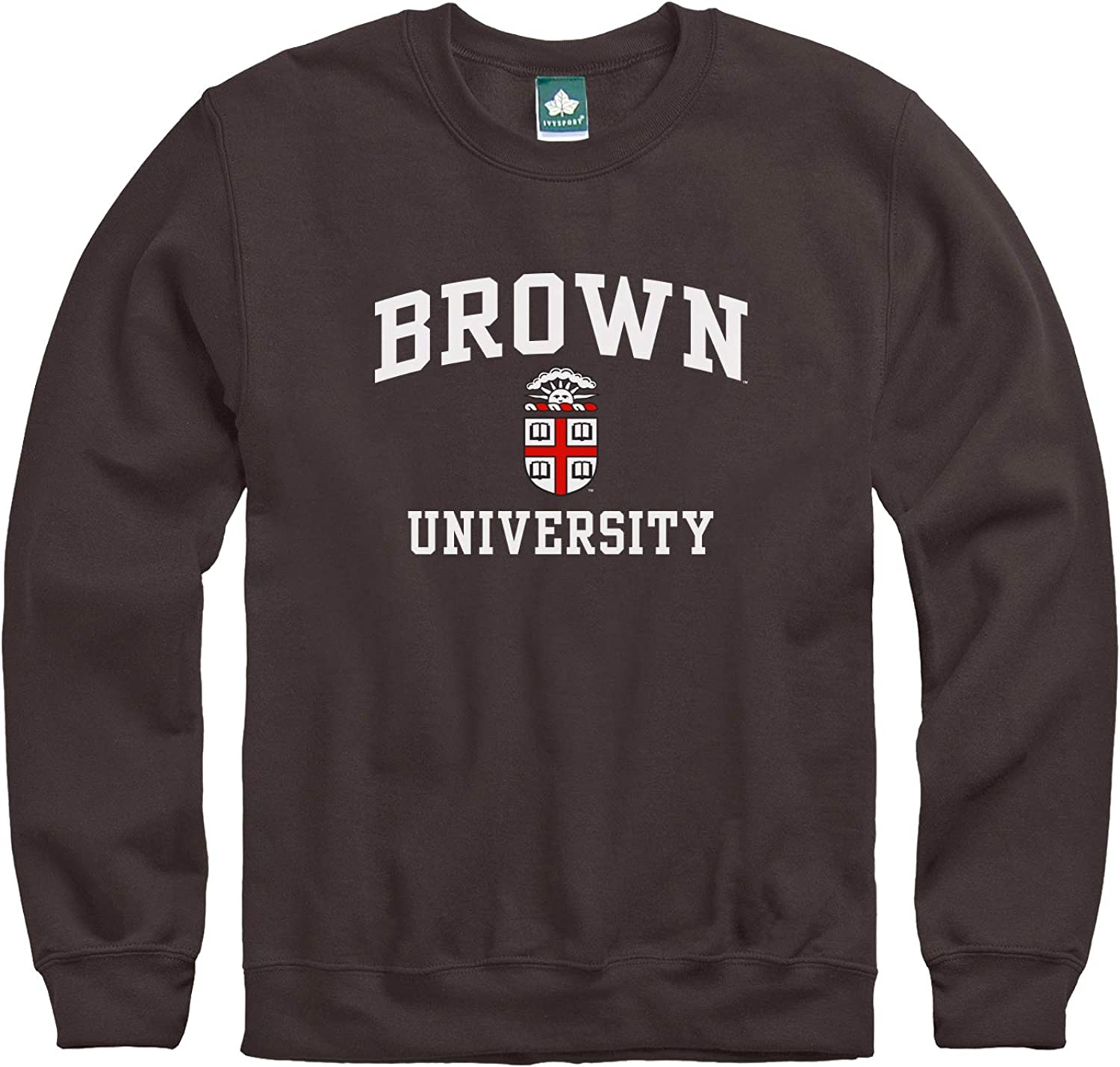 Ivysport Premium Cotton Crewneck Sweatshirt with Crest Logo NCAA Colleges