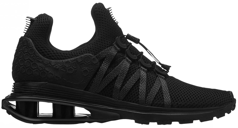 NIKE Men's Shox Gravity Nylon Running Shoes B07CHV9F2J 12 D(M) US|Black/Black/Black