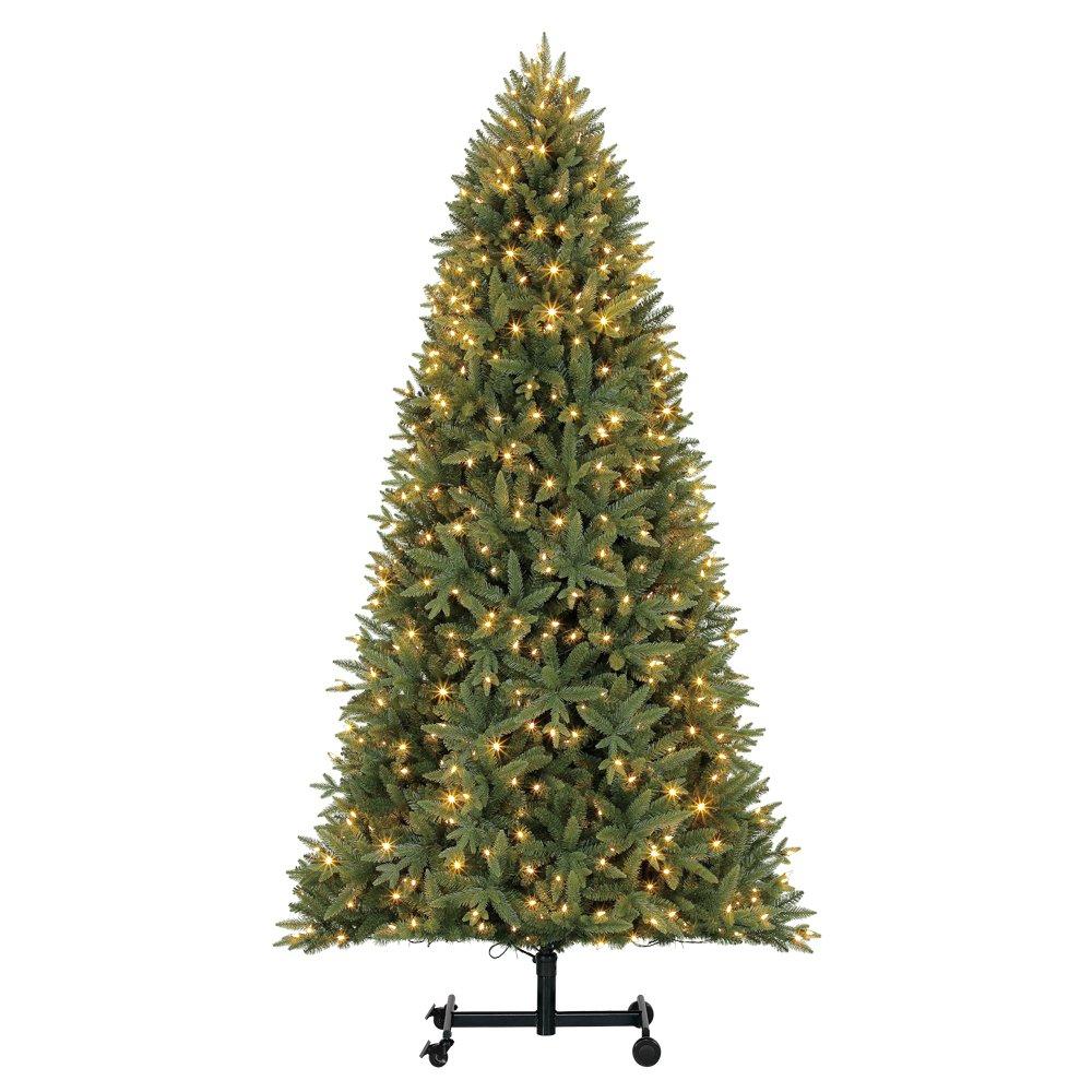 Home Heritage Alaska 7' - 9' Grow & Stow Dual Colored Light Christmas Tree by Home Heritage (Image #1)