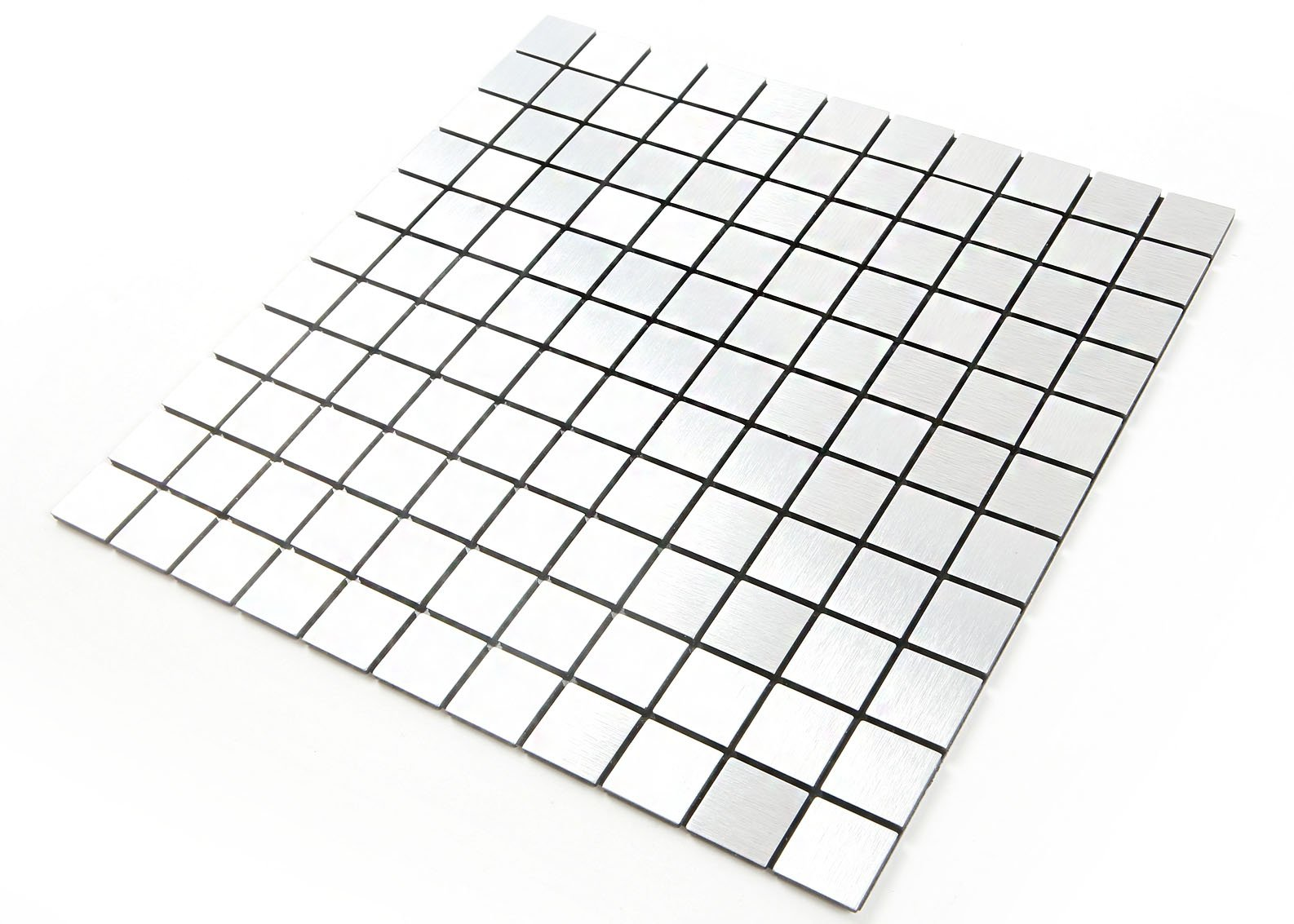 ROSEROSA Peel and Stick Tile Metal Backsplash for Kitchen, Wall Tiles Aluminum Surface : Pack of 5 (Metal-310)