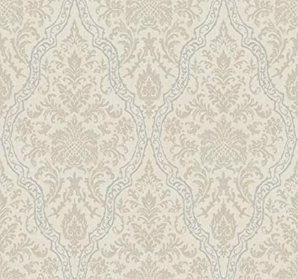 Décor Direct YWEE1328 Pinecrest Double Roll of Decorative Hanging Wallpaper, Cream - - Amazon.com