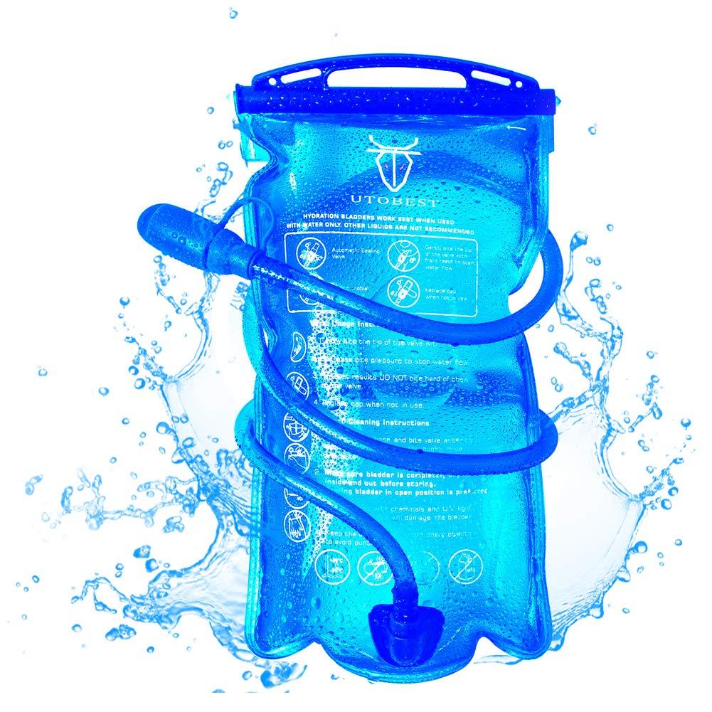UTOBEST Bolsa de hidratación para Mochila de Senderismo, Sistema de hidratación con Reserva de Agua para 1 l, 1,5 l, 2 ly 3 l, de la Marca
