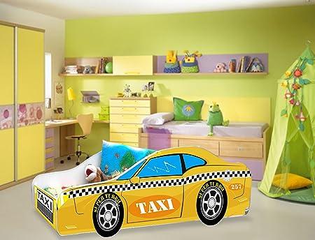 Cama infantil para coche, diseño de Taxi amarillo de colchón ...