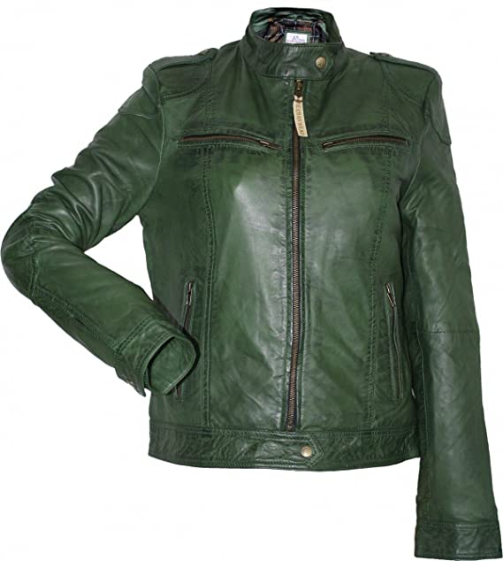 German Wear, Lederjacke Lammnappa Trend Fashion echtleder