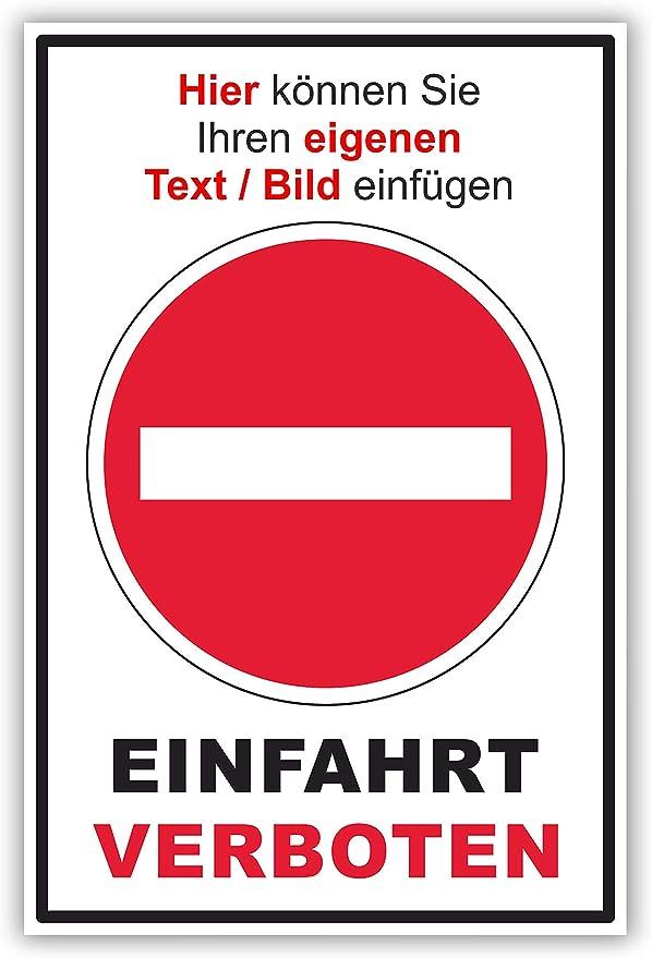 SCHILDER HIMMEL anpassbares Parken verboten Schild A1 Alu-Verbund mit Schrauben Privatgrundst/ück Nr 54 eigener Text//Bild verschiedene Gr/ö/ßen//Materialien