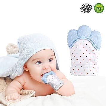 DE Baby Beißring Kinderkrankheiten Spielzeug Geschank Fäustlinge Zahnungshilfe