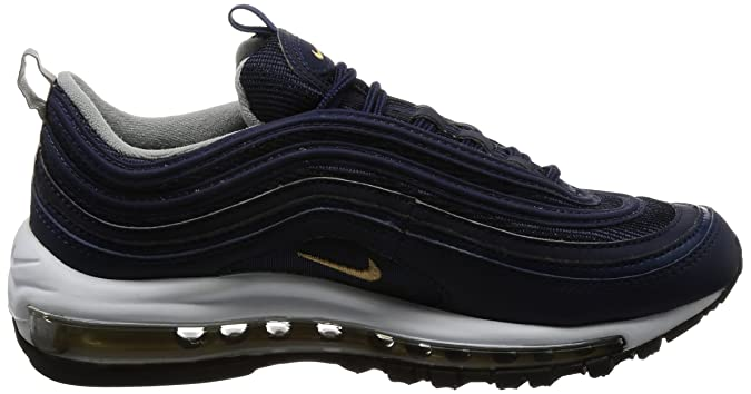 Nike Air Max 97 Mens Running Trainers 921826 Sneakers Shoes (UK 6 US 7 EU 40, Midnight Navy Metallic Gold 400)
