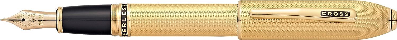 Cross Peerless - Pluma estilográfica, fino, color oro https://amzn.to/2PPiQg1