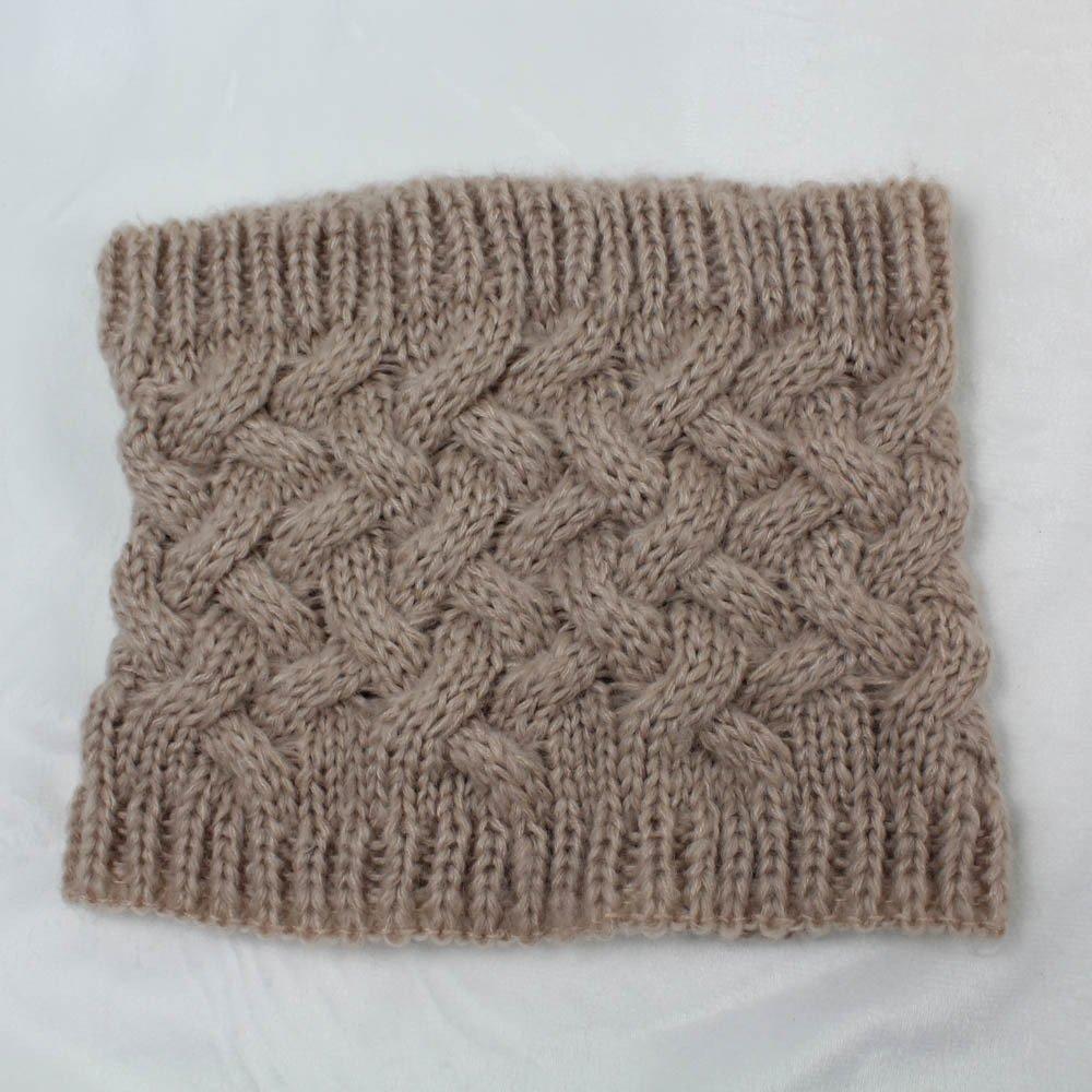 FOANA Donna Uomo inverno caldo infinito cavo lana collo a maglia collo cappuccio scialle sciarpa scialle unisex di lana Colletto in maglia