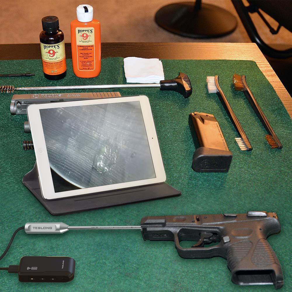 Pistol Borescope for iPhone, Teslong WiFi Version Handgun Barrel Bore Scope Camera