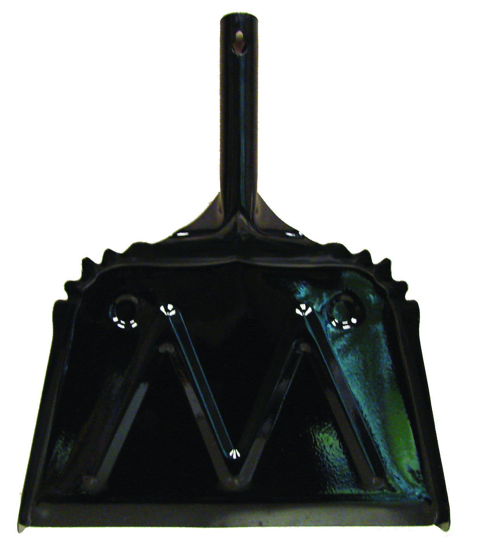 Golden Star BDP12M Metal Dust Pan, Black (Pack of 12)