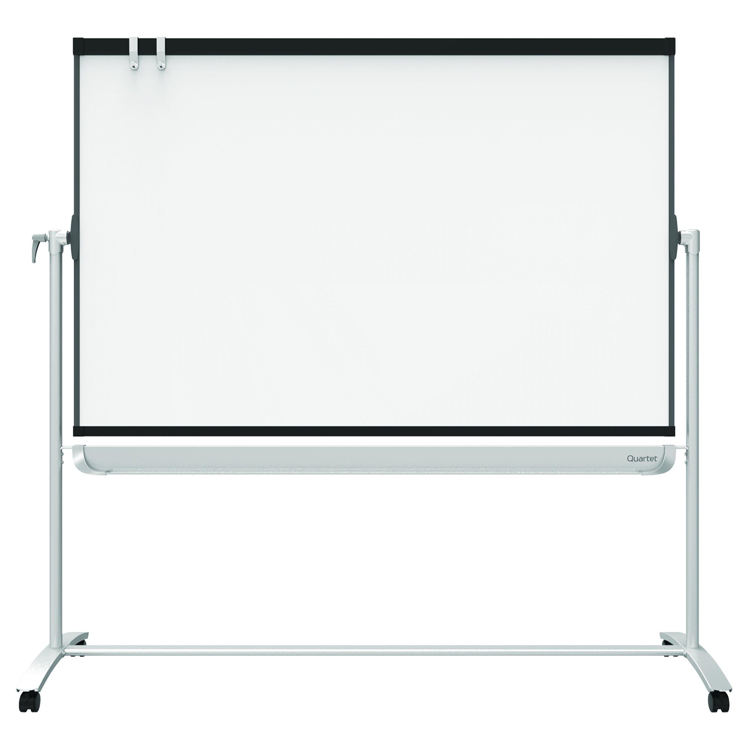 Quartet Mobile Easel, Prestige 2, Reversible Magnetic Whiteboard/Flipchart, 4' x 3', Graphite Frame (ECM43P2) by Quartet
