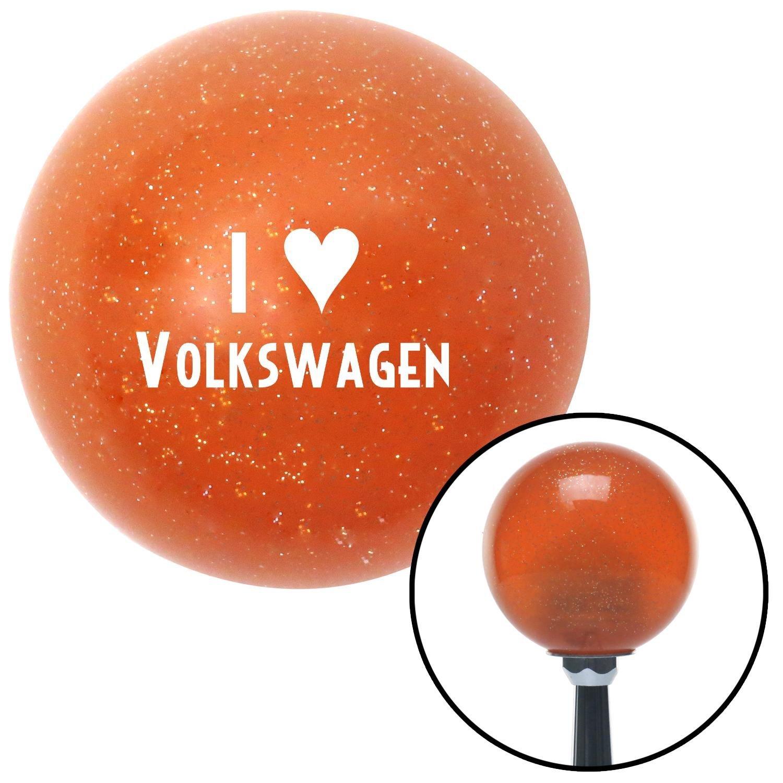 American Shifter 38064 Orange Metal Flake Shift Knob with 16mm x 1.5mm Insert White I 3 Volkswagen