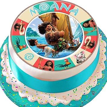 SEMO2002 Maui Birthday vorgeschnittenen Essbarer Zuckerguss Kuchen ...