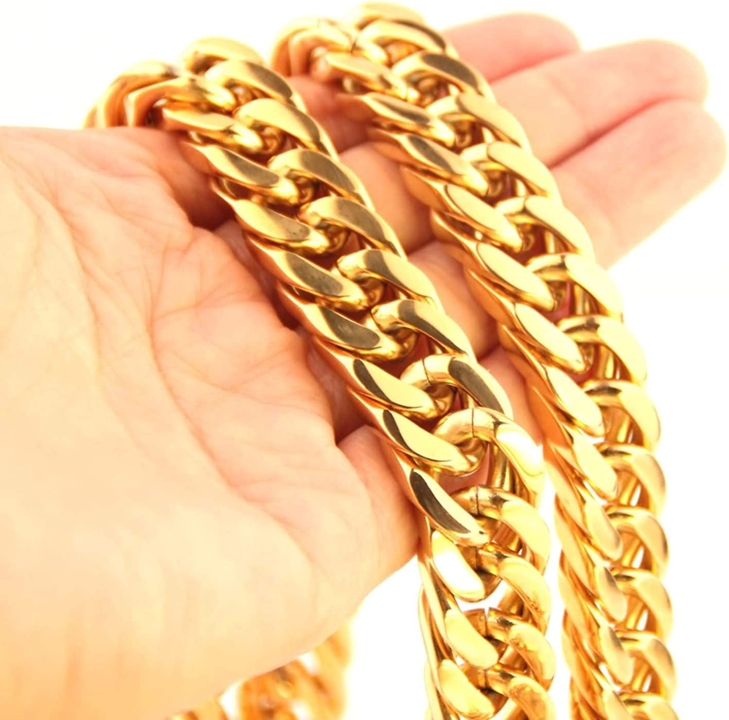Gnzoe Mens Necklace Chains Stainless Steel Curb Chain Necklace for Men