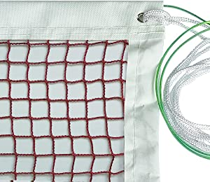 DOURR Badminton Net, Outdoor Indoor Sports Classic Badminton Replacement Net with Steel Cable Ropes for Backyard Beach Garden Schoolyard (20 FT x 2.5 FT) (with Steel Cable Rope)