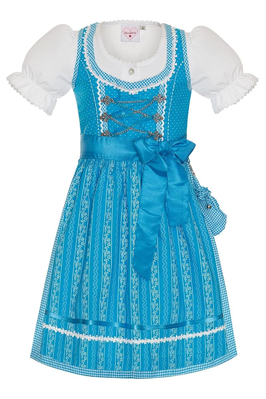 Herzglück Mädchen Kinderdirndl türkis Anja 140008