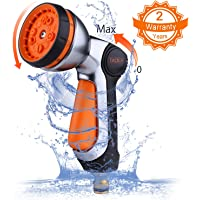 TACKLIFE Garden Hose Nozzle, 10 Adjustable Watering Patterns with Metal Water Nozzle, Heavy Duty, Slip and Shock Resistant, Ideal for Plants Watering, Cleaning, Car Washing and Pets Showering - GSG1A
