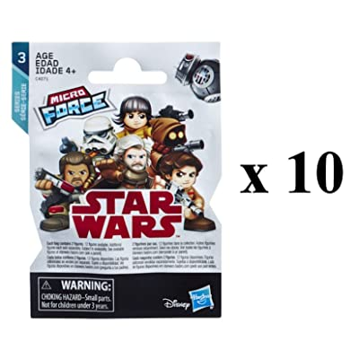 SW Star Wars Micro Force Series 3 Mystery Pack Blind Bag Party Favours - Pack of 10: Home & Kitchen